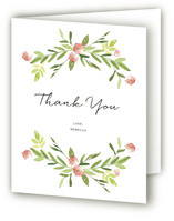 Wildflower Party Adult Birthday Party Thank You Cards