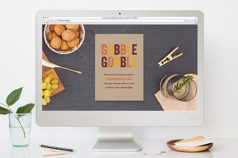 Gobble Gobble Thanksgiving Online Invitations