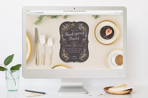 Harvest Table Thanksgiving Online Invitations