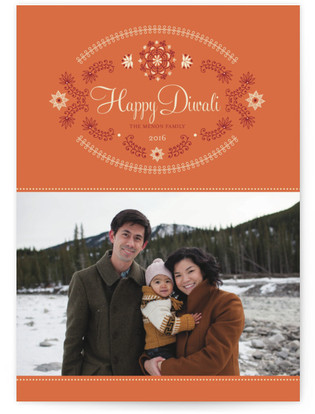 Ornate Lotus Diwali Cards
