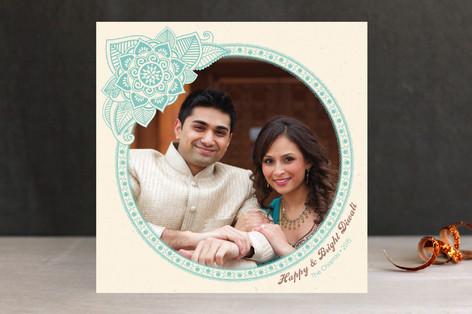 Henna Circle Diwali Cards