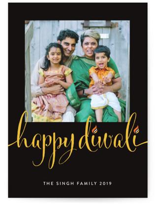 Diwali Flames Diwali Cards