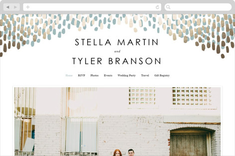 Modern Dash Wedding Websites
