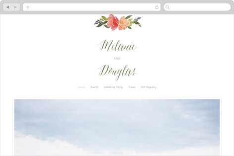Watercolor Floral Wedding Websites