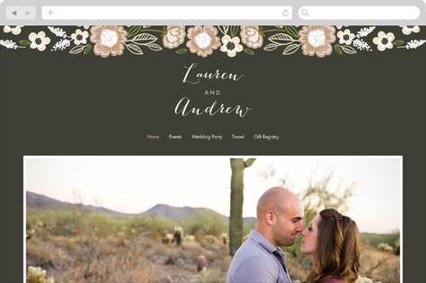 Botanical Wreath Wedding Websites