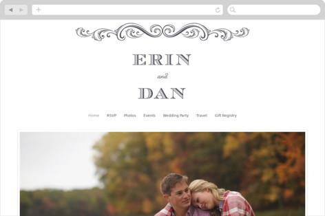 A Chalkboard Marriage Wedding Websites