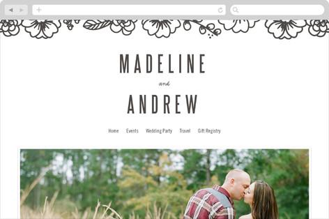 Modern Botanicals Wedding Websites