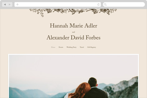 Story Book Wedding Websites