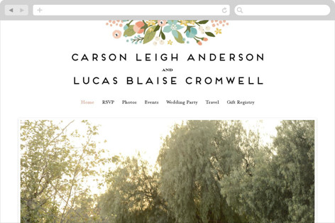 Floral Ampersand Wedding Websites