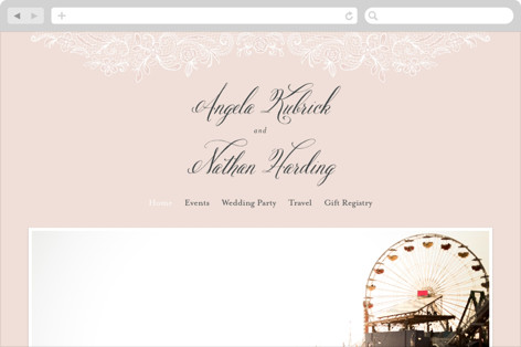Elegant Lace Wedding Websites