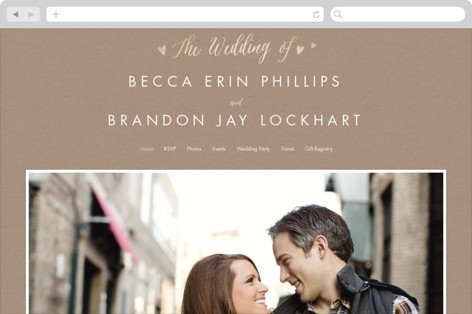 Charming Love Wedding Websites