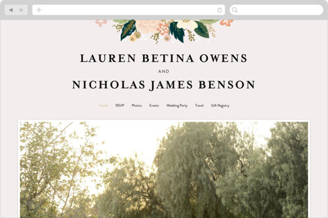 Classic Floral Wedding Websites
