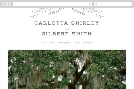 Wanderlust Wreath Wedding Websites