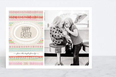 Painted Stripe Easter Cards
