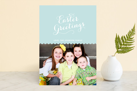 Scallops Easter Cards