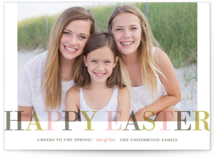 Family Name Easter Cards