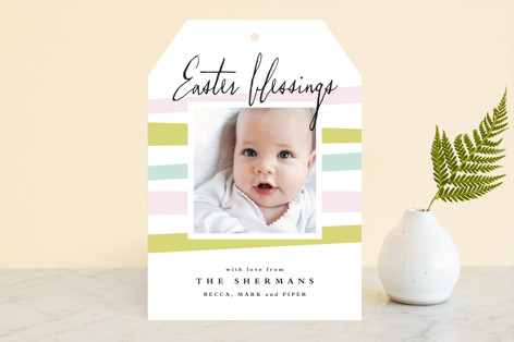 Pastel Ribbons Easter Cards