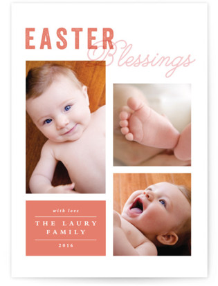Blessed Grid Easter Cards