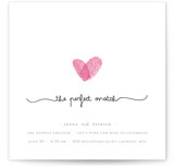 Fingerprint Heart Engagement Party Invitations