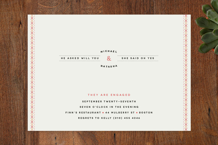 """""""Sweet Sundae"""" - Whimsical & Funny Engagement Party Invitations in Peach by chocomocacino."""