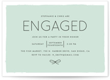 Knotted Engagement Party Invitations