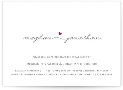 Love Connection Engagement Party Invitations