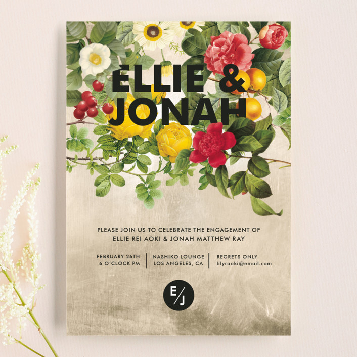 """""""Flora"""" - Engagement Party Invitations in Natural by Susie Allen."""