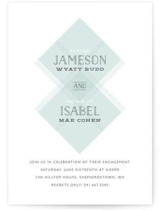 Modernized Engagement Party Invitations