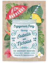 Tropical Celebration Engagement Party Invitations