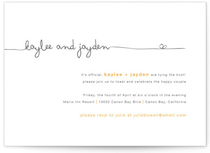 The Happy Couple Engagement Party Invitations