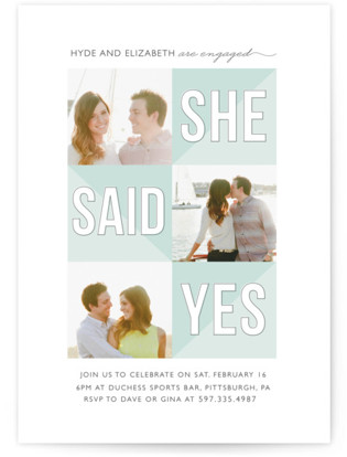 She Said Yes Engagement Party Invitations
