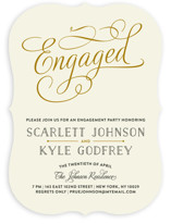 Chic Engagement Engagement Party Invitations