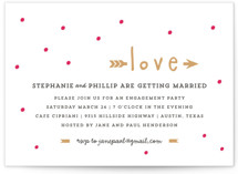 Crazy in Love Engagement Party Invitations