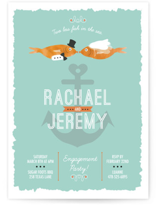 Fish Party Engagement Party Invitations