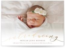 Treasured Foil-Pressed Birth Announcement Postcards