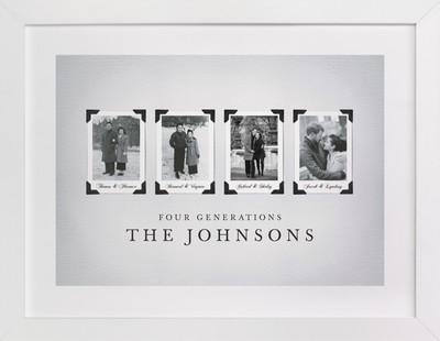 Four Generations Family Tree Custom Art Print