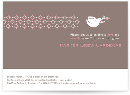 Dove on Gray First Holy Communion Invitations