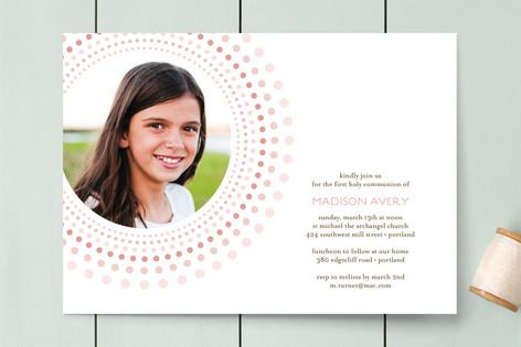 Joyful Bursts First Communion Invitations