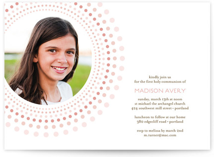 Joyful Bursts First Holy Communion Invitations
