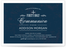 Stately Cross First Communion Invitations