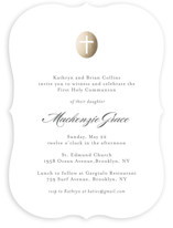 Medallion Cross First Communion Invitations