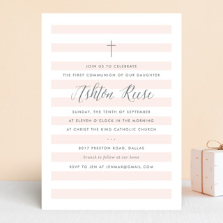 Sleek First Communion Invitations