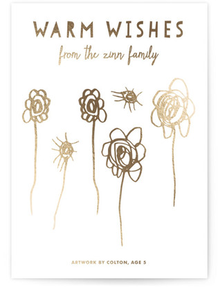 Warm Wishes Completely Custom Your Drawing As Foil Card