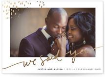 Let Love Shine Foil-Pressed Wedding Announcement