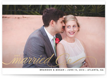 Married + Bright Foil-Pressed Wedding Announcement