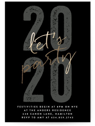 Party On Foil-pressed Party Invitation
