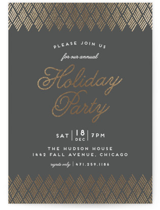 Golden Gathering Foil-pressed Party Invitation