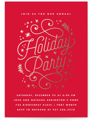 Grand Soiree Foil-pressed Party Invitation