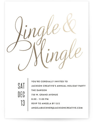 Jingle Mingle Foil-pressed Party Invitation