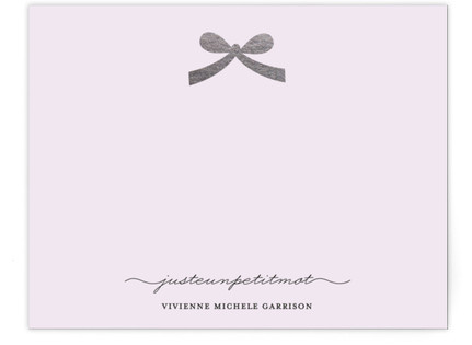 Paris + Vintage Ribbon Foil-Pressed Personalized Stationery